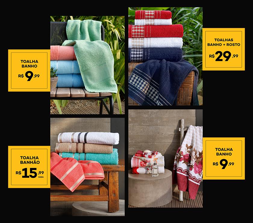 Ofertas de toalhas Lojas Avenida