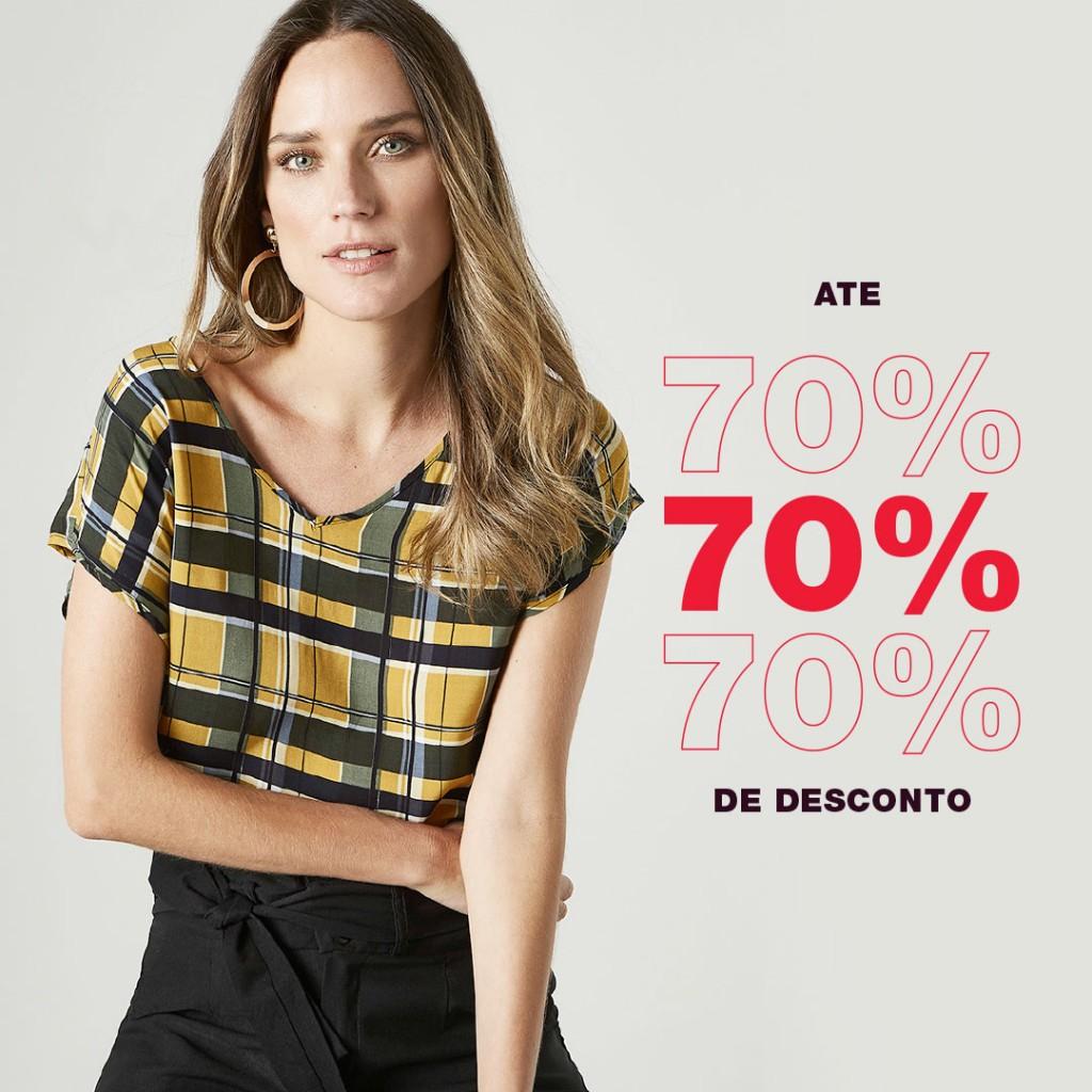Moda feminina em promoção nas Lojas Avenida