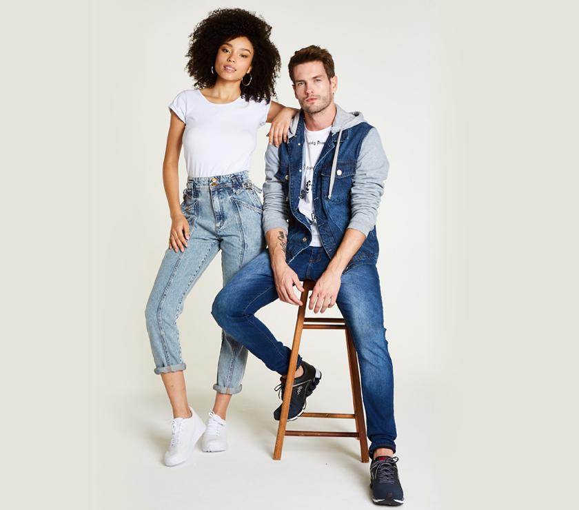 Jeans e tênis Avenida