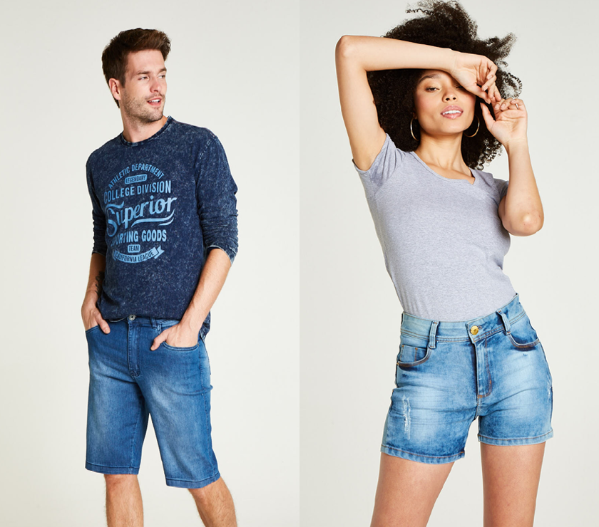 Shorts jeans Avenida